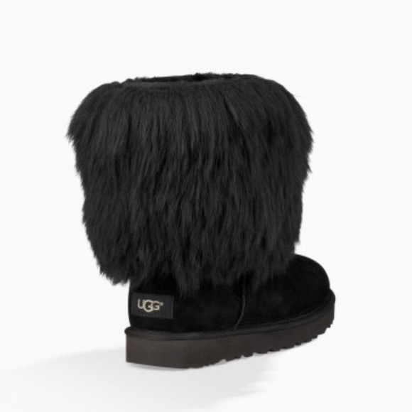 8949839784 UGG Shoes   A Short Sheepskin Cuff Boots Black Nib   Poshmark